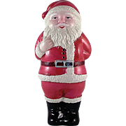 """Celluloid 4"""" Tall Santa with Doll Made in Japan Figure"""