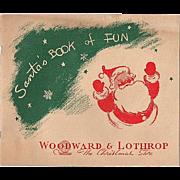 'Santa's Book of Fun' from Woodward & Lothrop Unused Activity Book