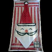 Vintage Santa 6 Piece Dish Cloth set in Original Package by Hanson