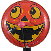 Made in Germany Tin Litho Halloween Clanger Noisemaker