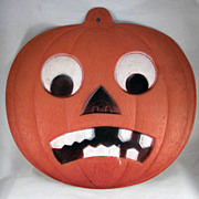 Made In Germany Halloween Frowning Jackolantern Diecut