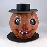 SOLD Master Craft Pulp Jackolantern Candleholder for Halloween - Red Tag Sale Item