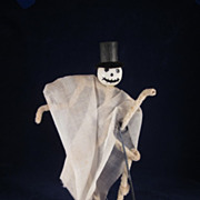 Skeleton Figure with Top Hat & Cane Halloween Party Favor Decoration