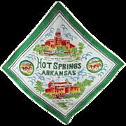 Hot Springs, Arkansas Souvenir Silk Scarf