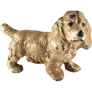 Hubley Cast Iron Cocker Spaniel Paperweight