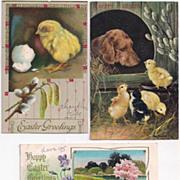 3 Vintage Easter Postcards 1910s