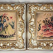 Pair of French Provincial Pictures with Couples