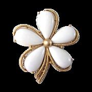 Crown Trifari Flower Brooch