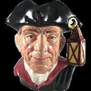 """Williamsburg 'The Night Watchman' Royal Doulton Character Jug 6-3/4"""" tall"""