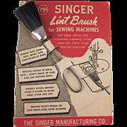 Singer Lint Brush on Original Card Not Used