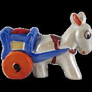 Made in Japan Lustre Horse Pulls a Cart Pincushion