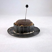 Early Metal 'Straw Hat' Pincushion
