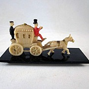 Hard Celluloid Party Favor,  Toy Stagecoach