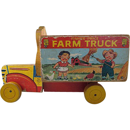Fisher-Price 1954 Campbell's Farm Truck Pull Toy