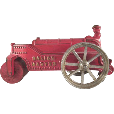 "Kenton Toys Cast Iron 'Galion Master' Road Roller 6-3/4"" long"