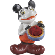 Made in Japan Bisque Mickey Mouse Pincushion