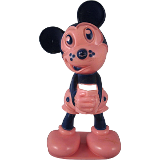 Figural Mickey Mouse hard Plastic Toothbrush Holder