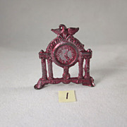 Cracker Jack Pre-1910 Mantel Clock Dollhouse Accessory Have 3