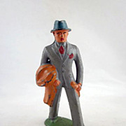 Barclay Lead Passenger Toy Figure