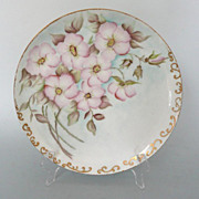 Antique Limoges Hand Painted Cherry Blossom Plate 1888/1896