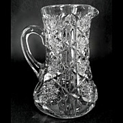 McKee Glass Toltec EAPG Glass Pitcher Toltec Pattern 1903