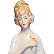 "Half Doll 2 1/2"" Porcelain Numbered and Marked Germany"