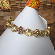 ~Royalty Collection~Faceted Citrine 22K Vermeil Bracelet