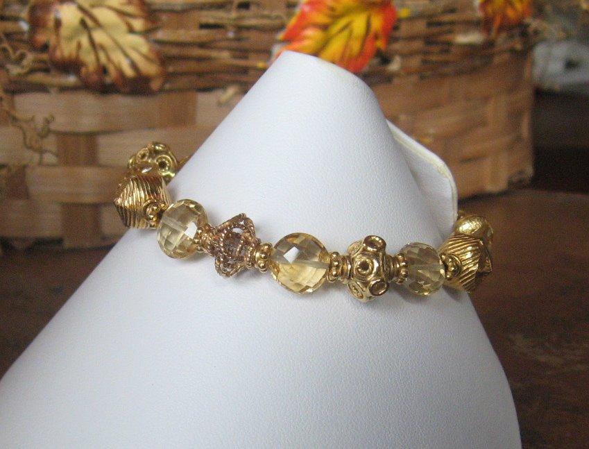 ~Royalty Collection~Faceted Citrine 22K Vermeil Bracelet