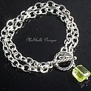 SALE ~ Isabelle ~ Lemon Quartz Double Strand Bracelet