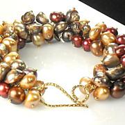 SALE 25% OFF Holiday Sale Fall Pearl Cluster Vermeil Bracelet