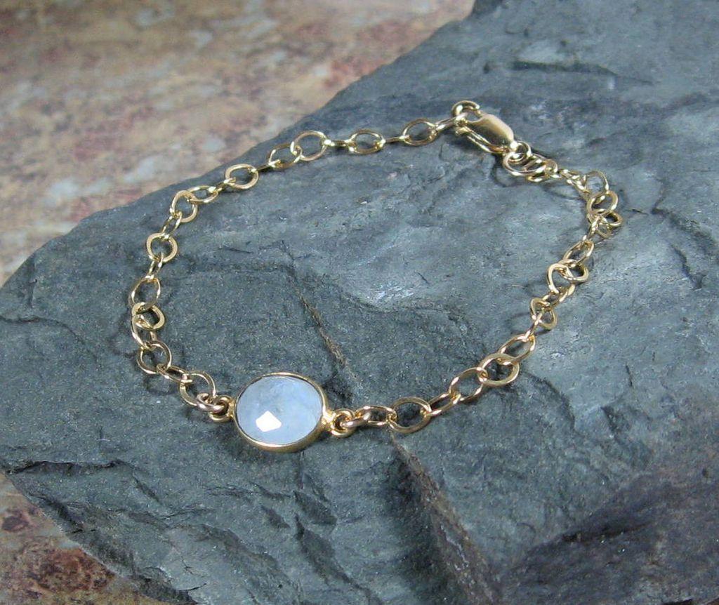 YEAR END SALE Moonstone Quartz Cabochon Gemstone Bracelet