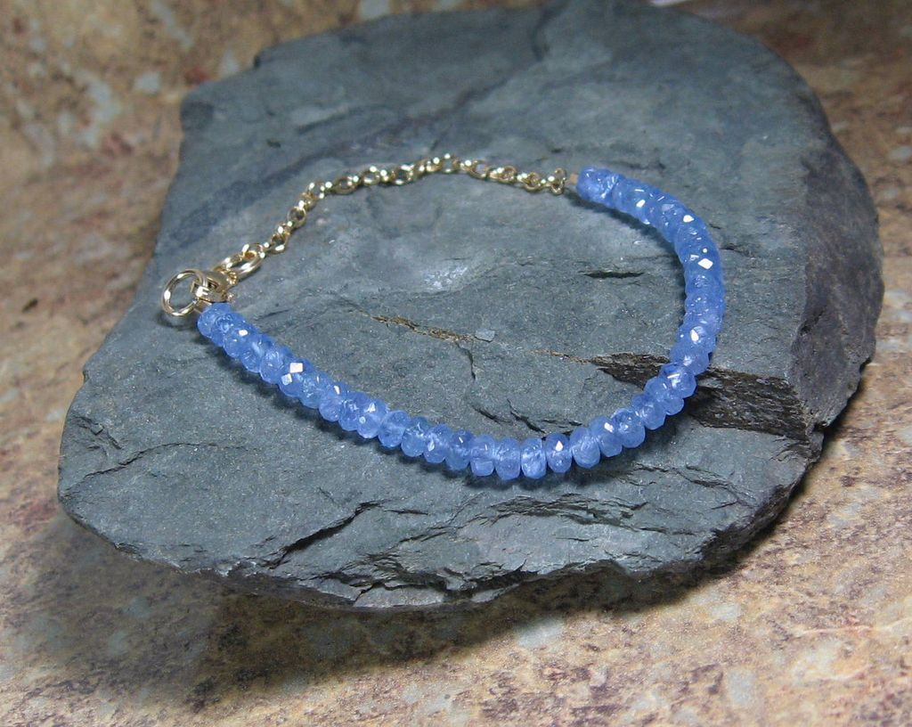 Tanzanite Gold Filled Summer Layering Bracelet