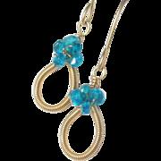 SALE Kyanite Gold Filled Sweet Petite Earrings