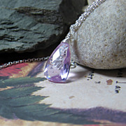 Lilac Gemstone Solitaire Necklace