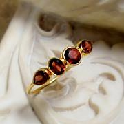SALE Garnet 14K Gold Gemstone Ring