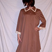 Vintage 1970 Vanity Fair Chocolate Brown Robe extra large & Nightgown size 40