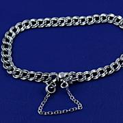 Very Feminine Vintage Elco Sterling Silver Double Link Starter Charm Bracelet ~ Slim