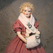 Muff and Scarf Set for French Fashion - Antique Miniature