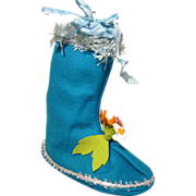 Lenci Blue Boot Christmas Ornament Candy Container