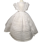 SOLD Exquisite Batiste Gown for French Fashion - 1860's