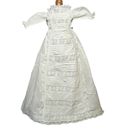 Small, Very Fancy Period Christening Gown for Antique Doll