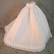 Fine Antique French Handsewn Petticoat for Fashion Doll