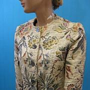 B2658 Vintage Jacket tapestry 1960's era BEST&Co.