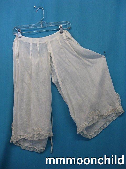 Antique pantaloons bloomers Civil War era Victorian figural