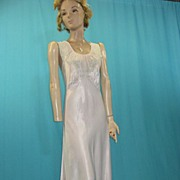 Vintage nightgown bias cut rayon w lace 1930s
