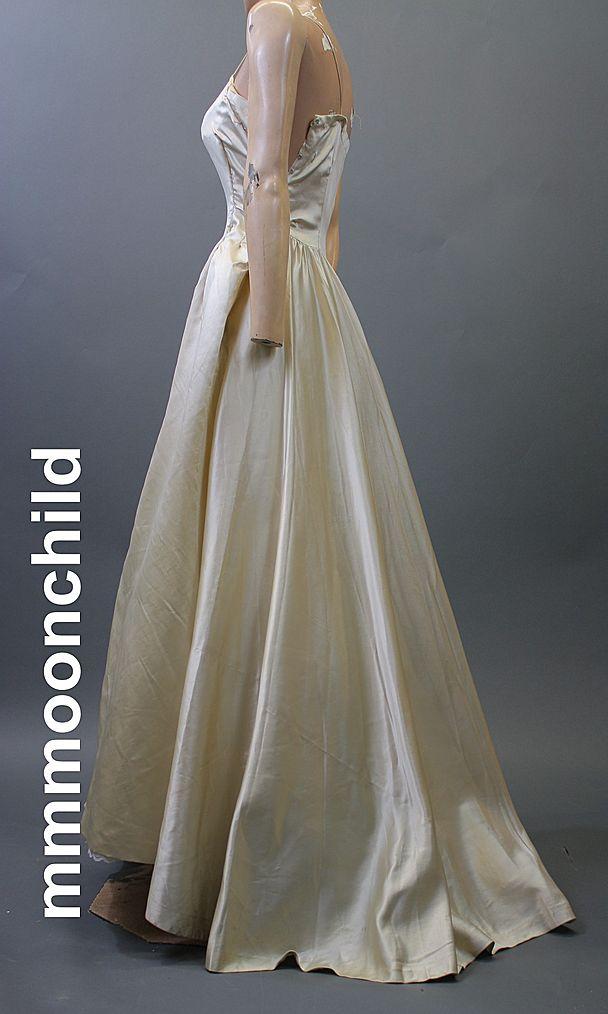 Vintage slip 1950s bridal for study  all silk