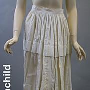 Antique petticoat Victorian era linen