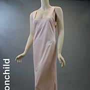 Vintage slip 1980s lycra formal w side vent