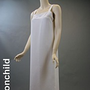 Vintage slip 1980s evening poly pure white