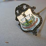 Antique hat pin Victorian era Vermont souvenir